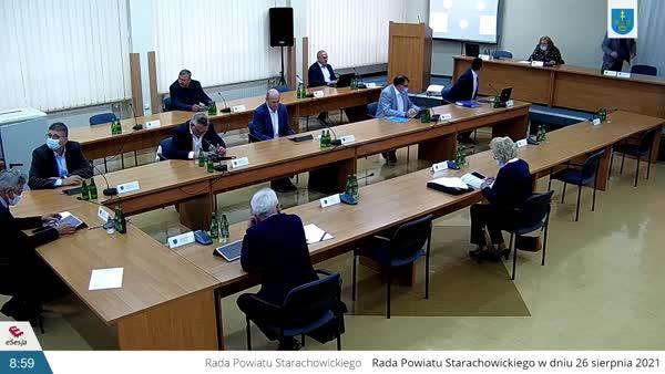 XXXII Sesja Rady Powiatu w Starachowicach z dnia 26 sierpnia 2021r.